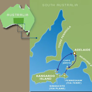 Map of Kangaroo Island