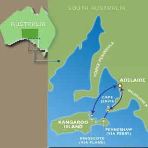 Map Of Australia Kangaroo Island.Kangaroo Island Map Kangaroo Island Wilderness Tours